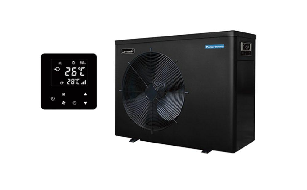 das Bild zeigt Climexel Pioneer Inverter 12,5 kW Wärmepumpe + Digitalanzeige